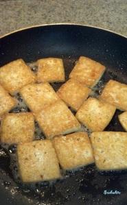 tofu side dish prep
